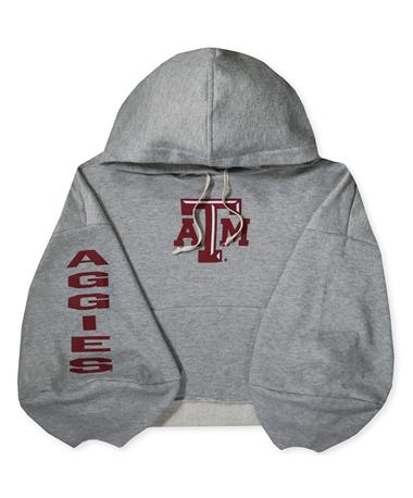 Texas A&M Delilah Crop Sweatshirt HEATHER