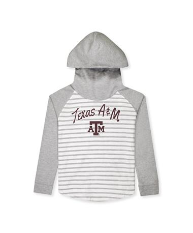 Texas A&M Colosseum Youth Girl's Striped Hooded Tee