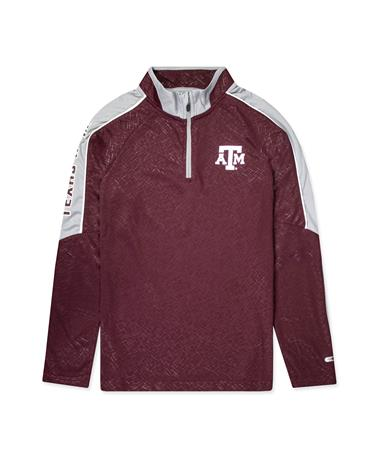 Texas A&M Colosseum Youth Bunsen Windshirt  1/4 Zip Pullover MAROON