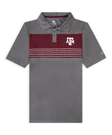 Texas A&M Colosseum Block ATM Stripe Polo
