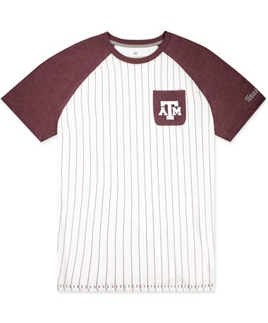 Texas A&M Colosseum Pinstripe Baseball Tee