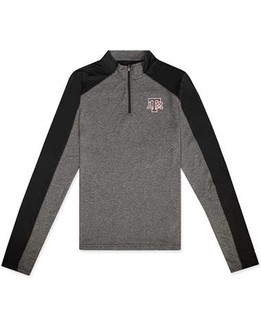 Texas A&M Colosseum Youth Quary 1/4 Zip Long Sleeve Tee Black
