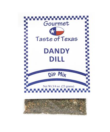 Gourmet Taste of Texas Dandy Dill Dip Mix - Front Multi