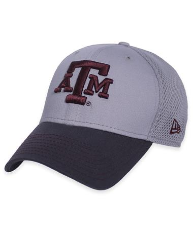 texas A&M New Era Block ATM Two Tone Cap-Front Grey