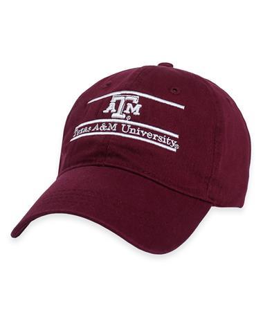Texas AM University Bar Cap-Front Maroon