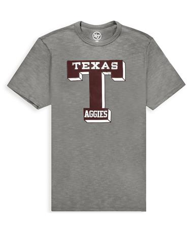 Texas A&M `47 Brand Knockaround Club T-Shirt - front Slate Grey