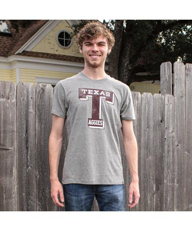 Texas A&M Aggies `47 Brand Knockaround Club T-Shirt - Slate Grey - Lifestyle Slate Grey