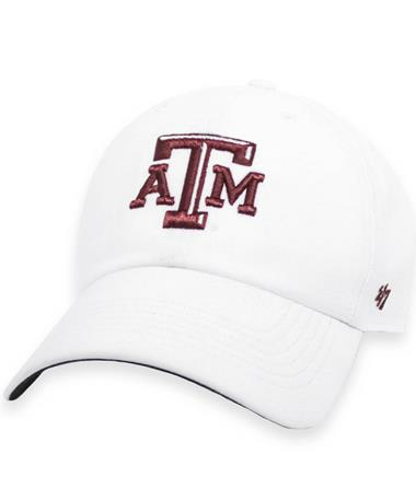 Texas A&M '47 Brand White Repetition Clean Up Cap
