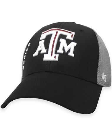 Texas A&M '47 Brand Black/Charcoal Contender Cap
