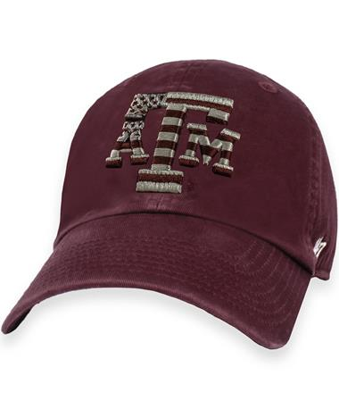Texas A&M '47 Brand Maroon OHT Flag Clean Up Cap