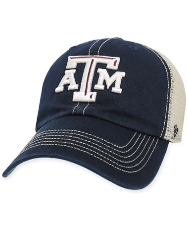 Texas A&M '47 Brand American Flag OHT Clean Up Cap