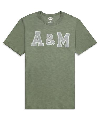 Texas A&M `47 Two Peat Scrum Tee-Front Bottle Green