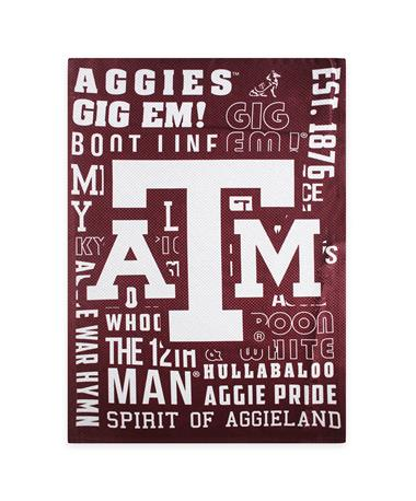 Texas AM Decorative Fan Rules Flag-Front Maroon/ White