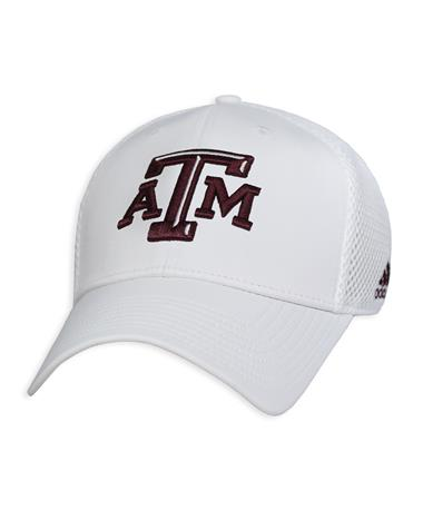 Texas A&M Adidas Coaches Adjustable Mesh Back Cap