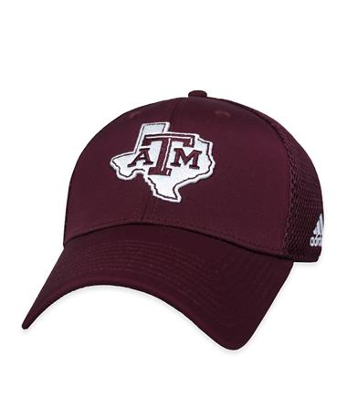 Texas A&M Coach Structured Adj Mesh Back Lonestar-Front Maroon/White
