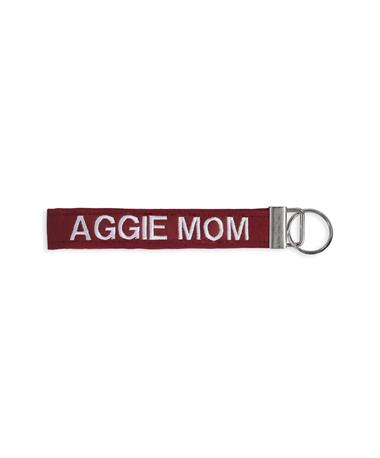 Texas A&M Aggie Mom Maroon Keychain-Front Maroon