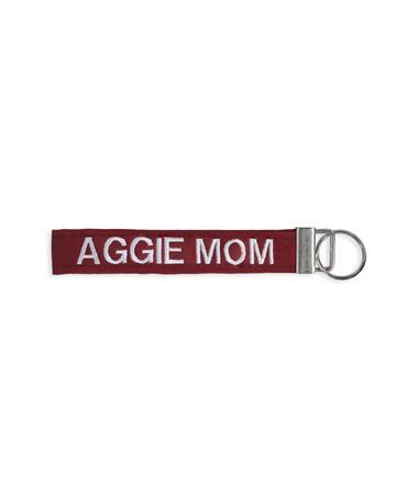 Texas A&M Aggie Mom Maroon Keychain