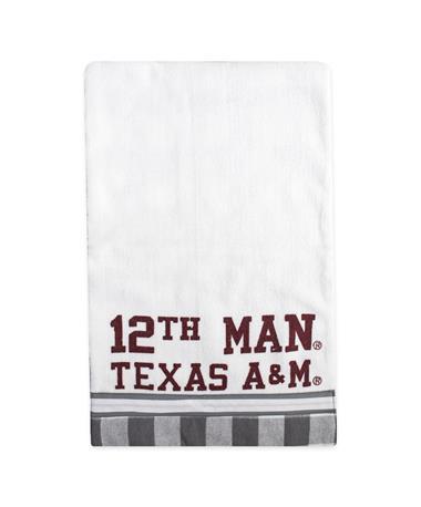 Texas A&M Checkered 12th Man Bib-Front White/ Grey