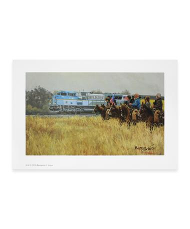 Benjamin Knox 4141 Train Limited Edition Small Print