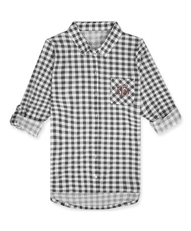 Texas A&M Wanderer Ladies Nightshirt - front Charcoal/White