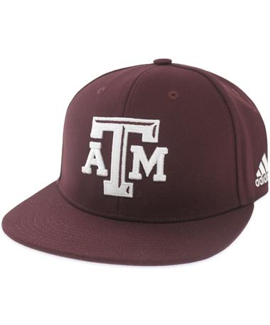Texas A&M Adidas Custom Fitted Baseball Cap - Maroon - Angled Maroon