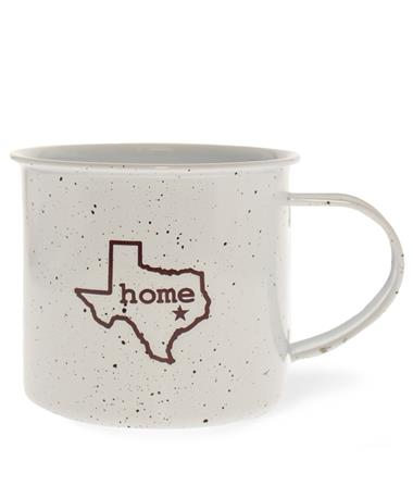 Texas A&M Metal Home Camp Mug White/ Maroon