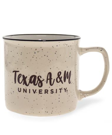 Texas A&M University Bozeman Script Mug Ivory/ Maroon
