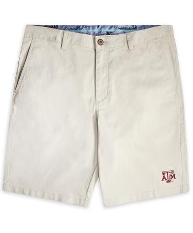 Texas A&M Tommy Bahama Boracay Cream Shorts Bleached Sand