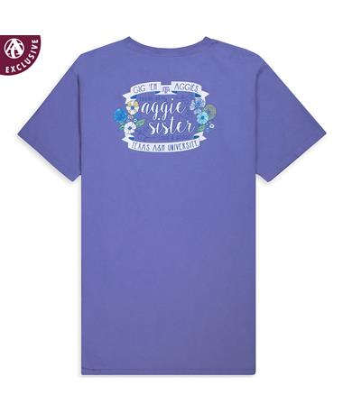 Texas A&M Aggie Sister Flower Tee