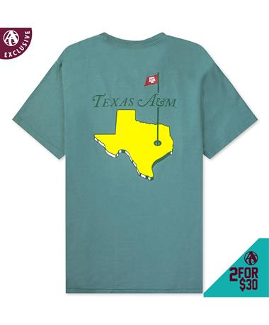 Texas A&M State Golf T-Shirt - Back Hemp