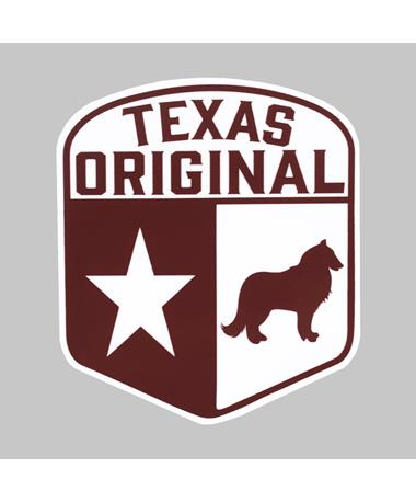 Maroon Texas Original Shield Dizzler Sticker