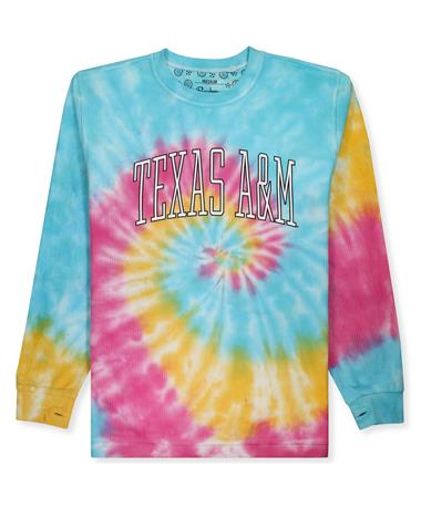 Texas A&M Rainbow Tie Dye Corduroy Sweatshirt RBS
