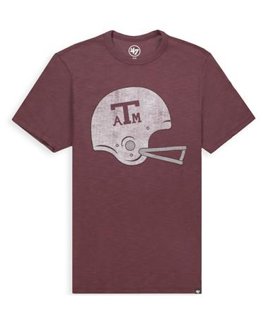 Texas A&M `47 Brand Grit Scrum T-Shirt-Front Maroon