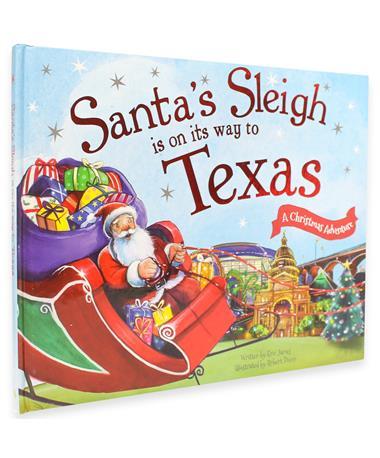 Santa`s Sleigh On Its Way to Texas Book Multi