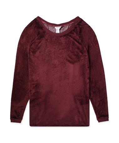 Maroon Hard Tail Shoulder Slide Raglan Long Sleeve FIG