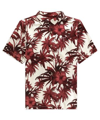 Texas A&M Tommy Bahama Sport Harbor Island Hibiscus Button Down