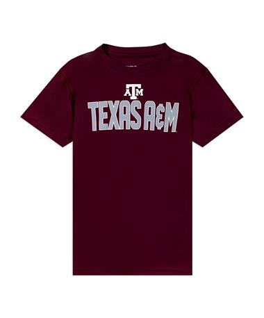Texas A&M Youth Colosseum Short Sleeve Aggies Polyester T-shirt