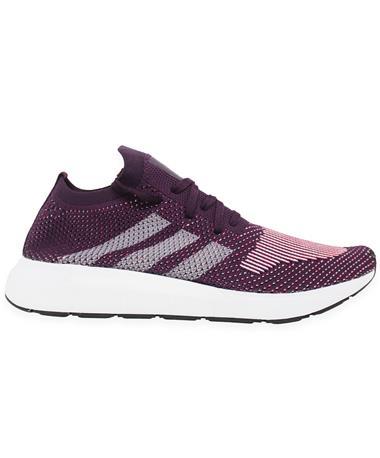 Adidas Swift Run Women`s Primeknit Shoes - Side Burgundy