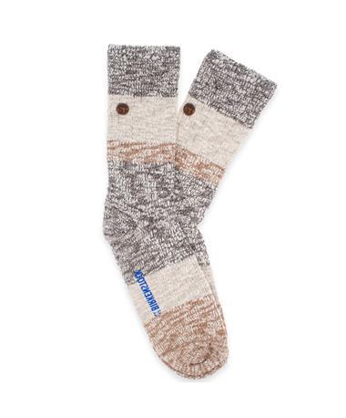 Birkenstock Men`s Fashion Slub Socks BROWN