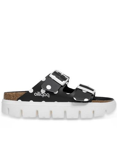Arizona Papillio Black Dotted Birkenstocks