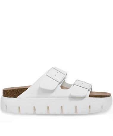 Arizona Papillio White Narrow Birkenstocks