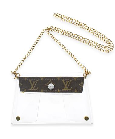 LV Clear Crossbody - Front CLEAR/BROWN