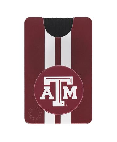 Texas A&M Integrated PopSocket Combo Grip & Wallet
