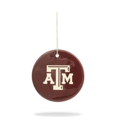 Texas A&M Engraved Ceramic Dish Ornament