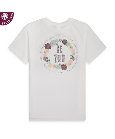 Texas A&M Youth Be You Tee -Back 3001T WHITE