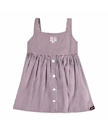 Texas A&M Jillian Toddler Woven Gingham Dress