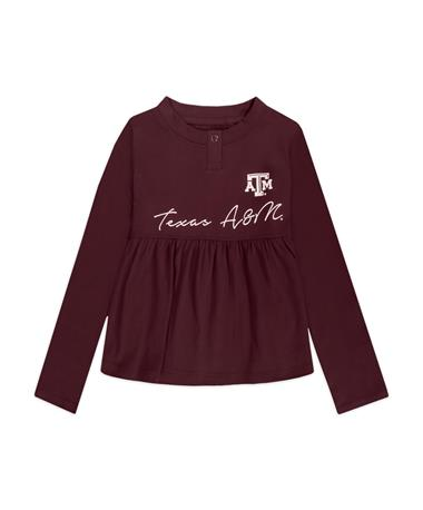 Texas A&M Vivian Toddler Long Sleeve Top