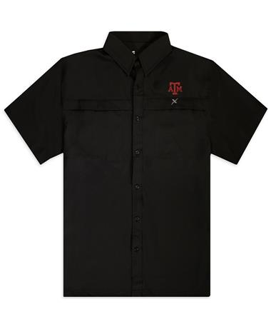 Texas A&M Xotic Black Button Down