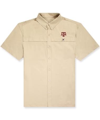 Texas A&M Xotic Tan Button Down