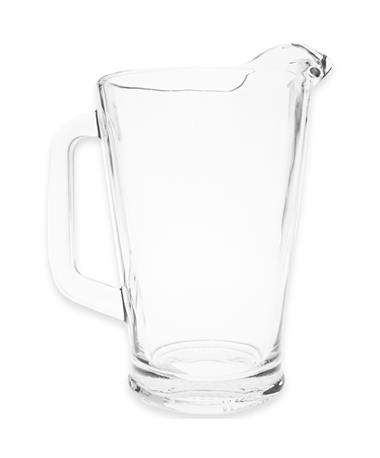 Clear 60 oz. Glass Pitcher - Front Clear